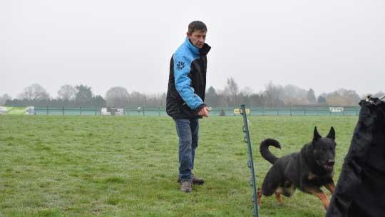 Craig doing dog sport