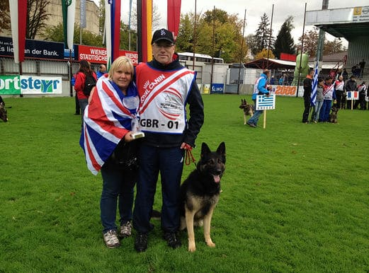 dog trainers with union jack