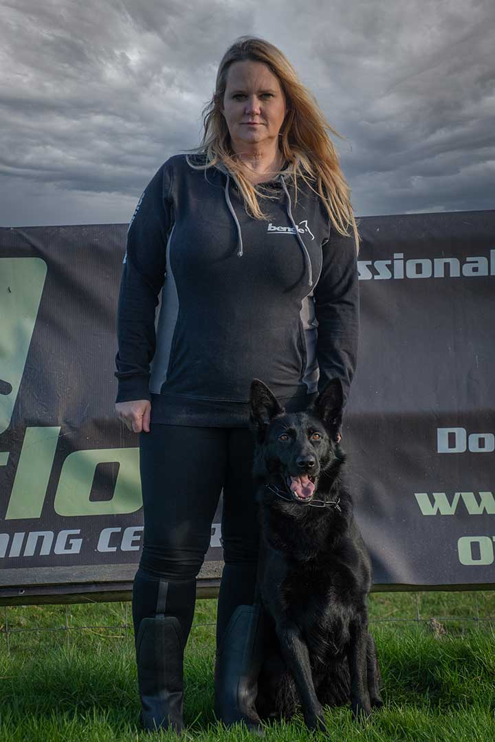 Sharn with a black GSD