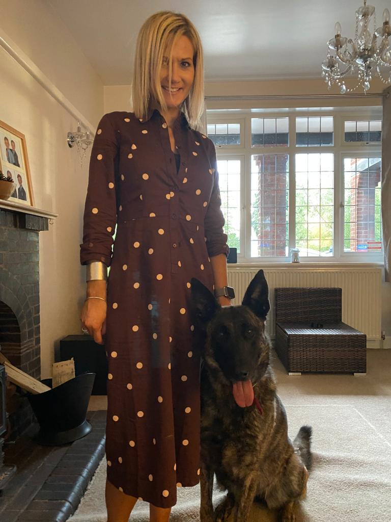 Melony Hughes & her Dutch Herder Xena