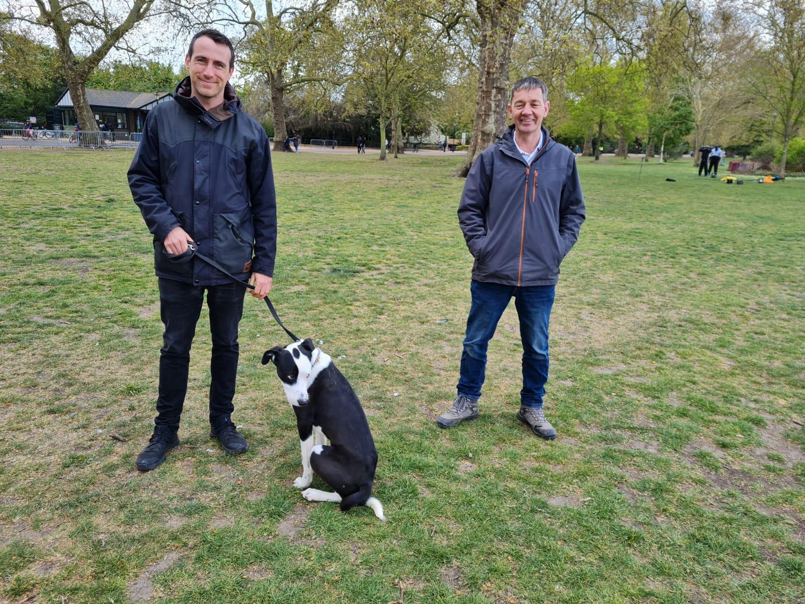 Adam & Monty his Collie Dog Boot Camp Vislor
