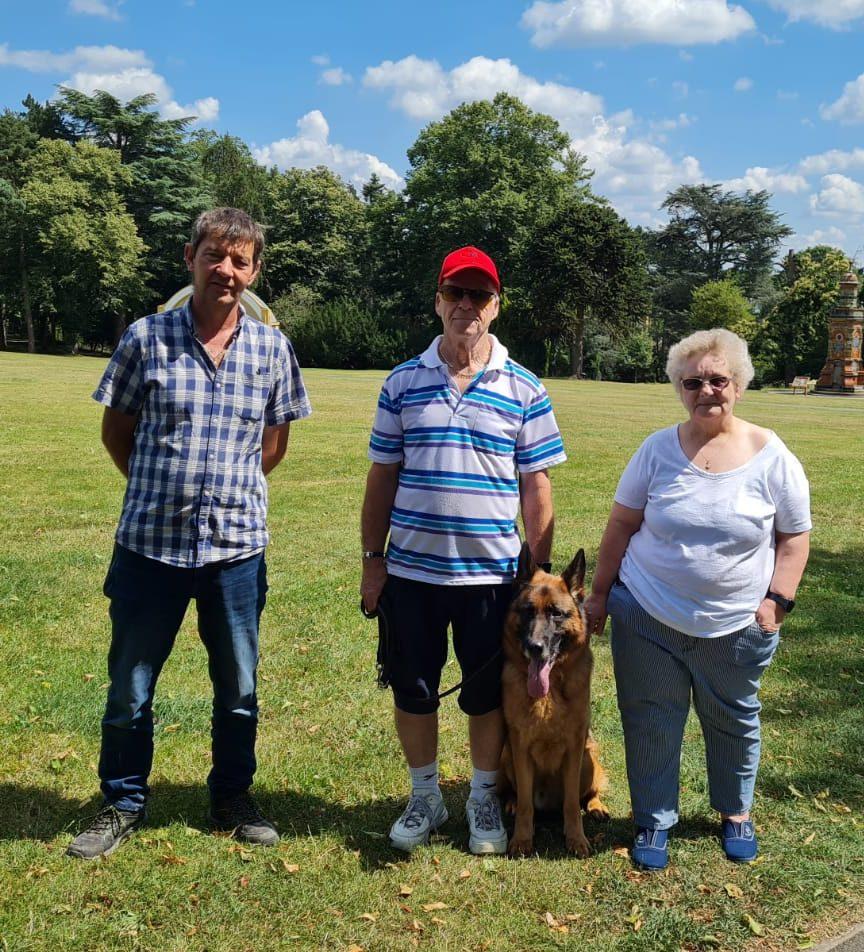 Jayne Hodgetts & Dexter at Vislor Residential Dog Bootcamp Salisbury