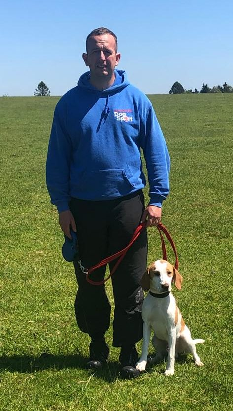 Marilyn Coulton and her 9 month Beagle Frank