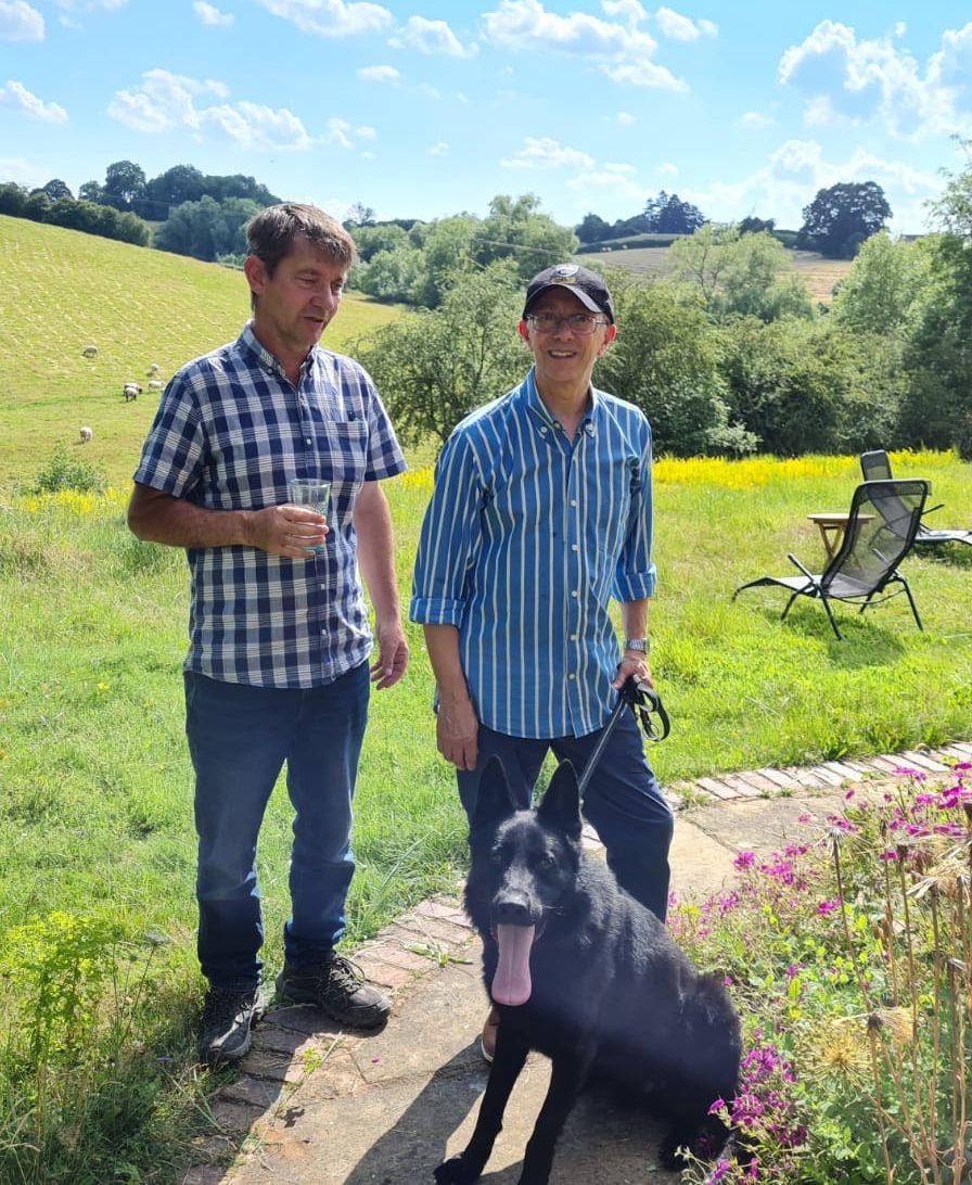 Joe Roseman & Coal (GSD) at Vislor Residential Dog Training - Salisbury