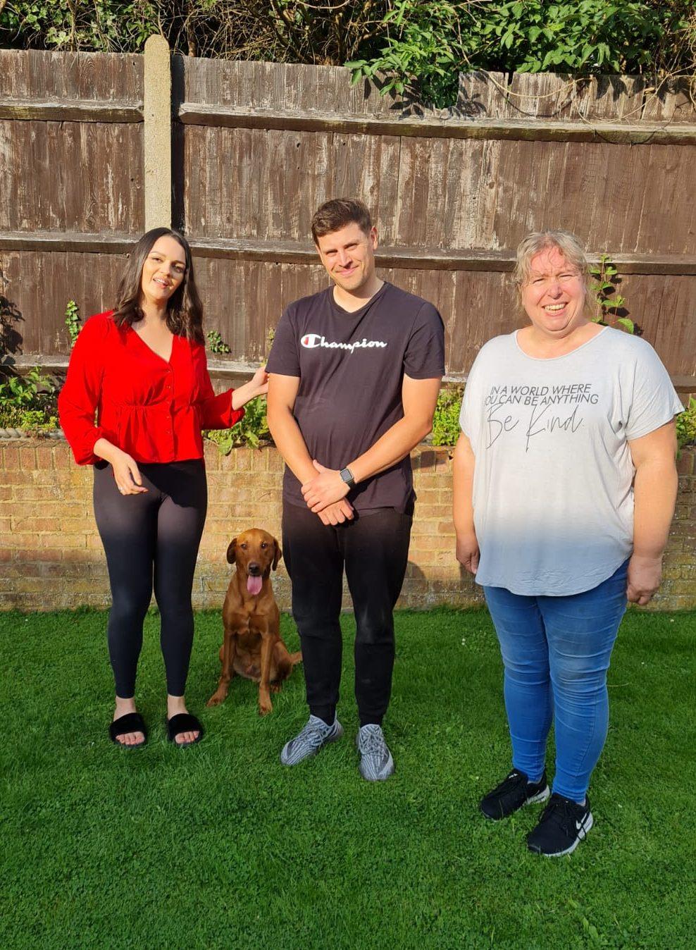 Rianna Hanif & Henry (Labrador) handover at Vislor Residential Dog Training Salisbury.