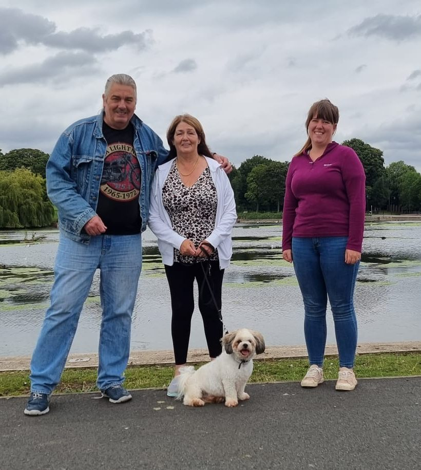 Bill & Karen Pearce with their dog Cody at Vislor Dog Training Center - Salisbury.