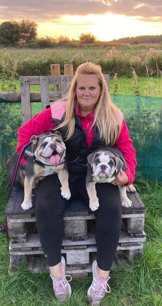 Kate Reynolds' dogs Mabel & Winnie at Vislor Dog Training Center Staffordshire.